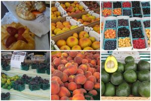 Pictures of food at a market