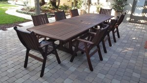 refinished jarrah table set