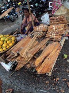 agarwood at a market